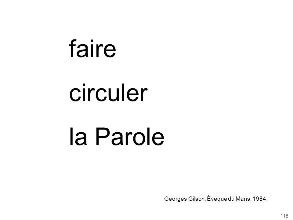 faire circuler la Parole Georges Gilson, Êveque du Mans, 1984. 118