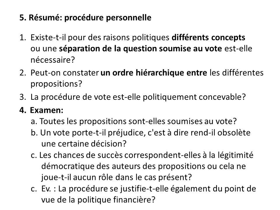2. Peut-on constater un ordre hiérarchique entre les différentes propositions.