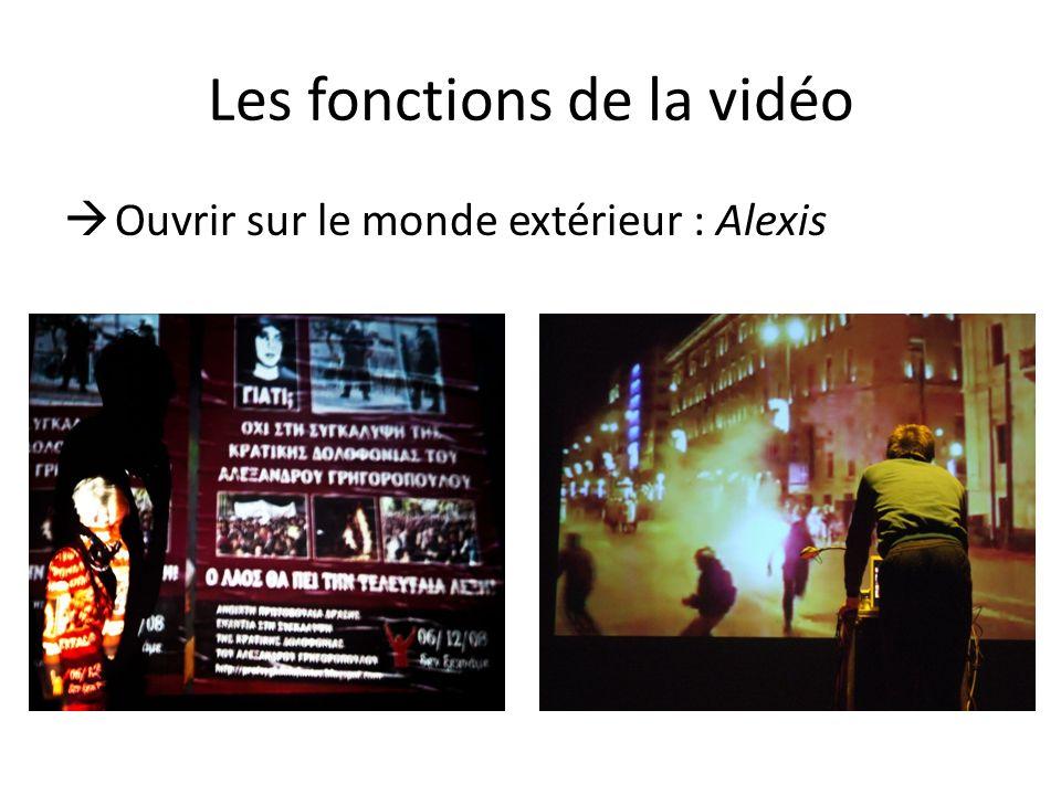 Les fonctions de la vidéo Ouvrir sur le monde extérieur : Alexis