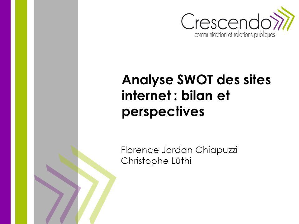 Florence Jordan Chiapuzzi Christophe Lüthi Analyse SWOT des sites internet : bilan et perspectives