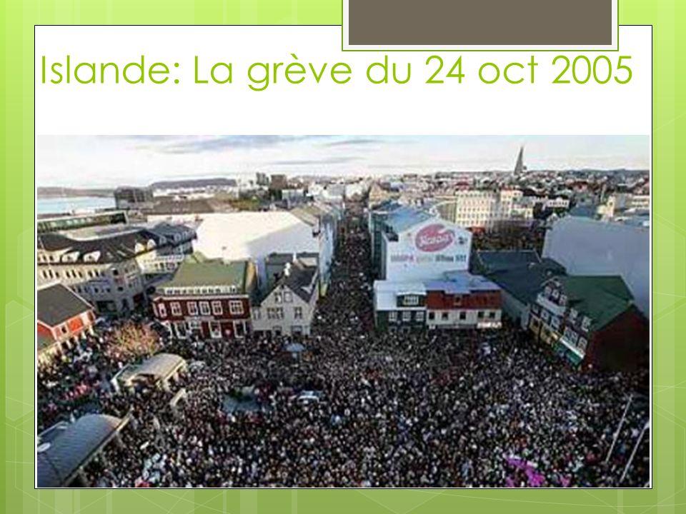 Islande: La grève du 24 oct 2005