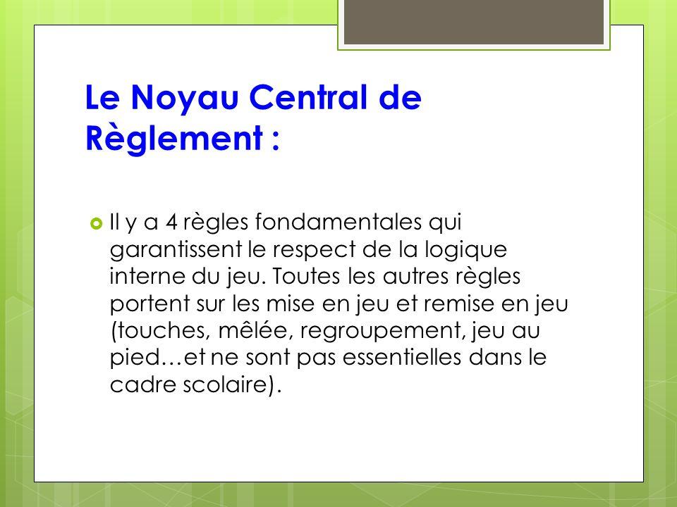 Le Noyau Central de Règlement : Il y a 4 règles fondamentales qui garantissent le respect de la logique interne du jeu.