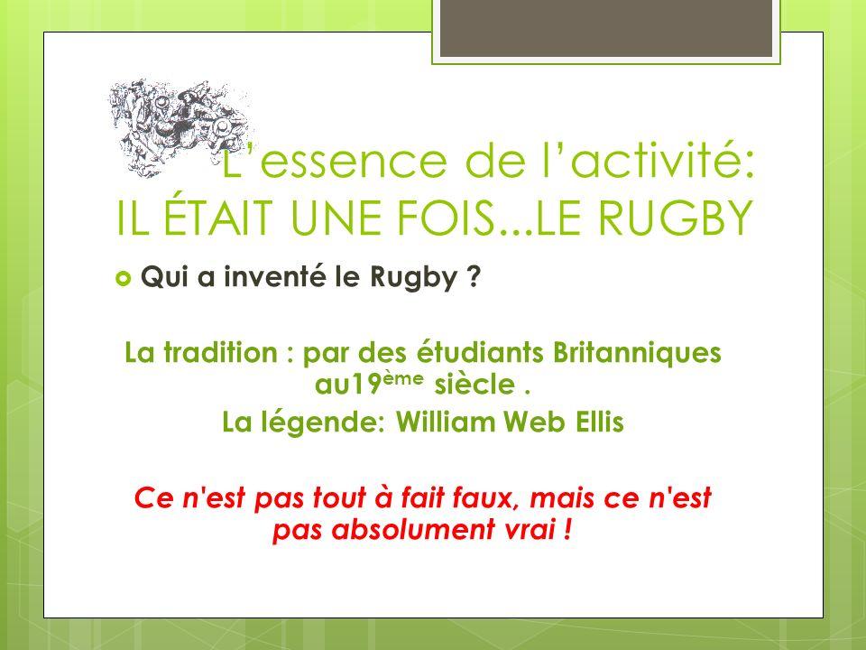 Document 1: Les Origines LECTURE - Jean Lacouture: Le rugby cest un monde, LE SEUIL, 1978, Remplir la fiche documentaire.