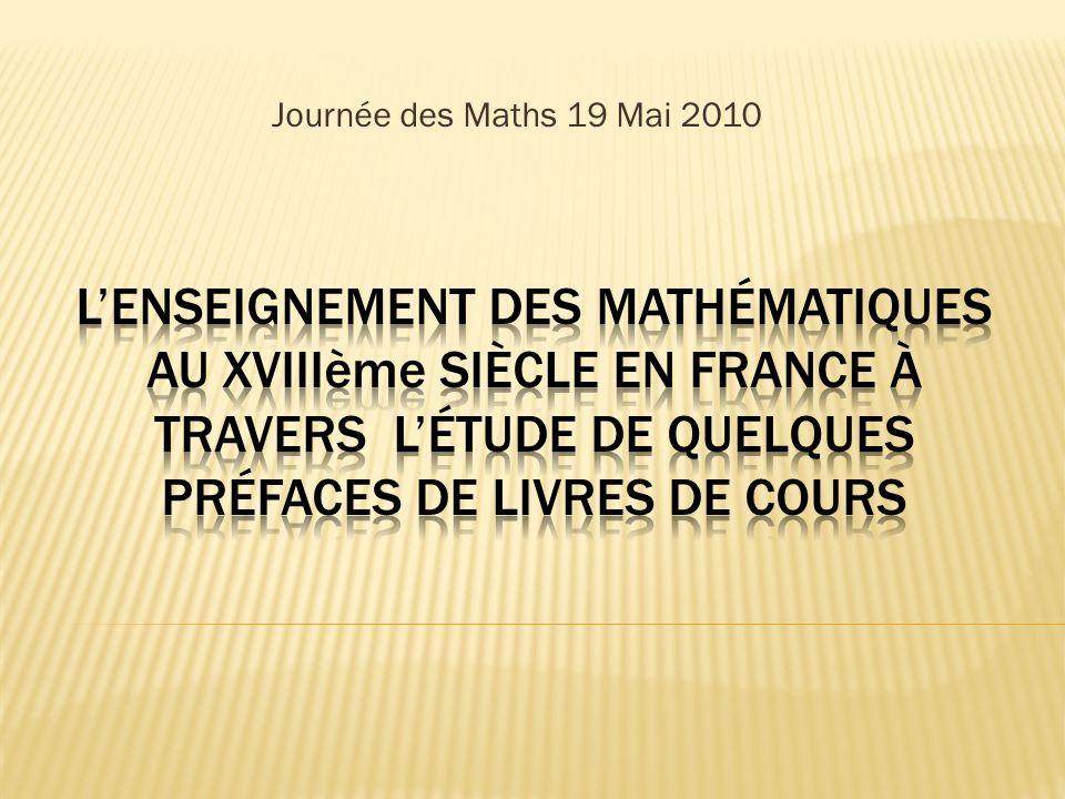 Journée des Maths 19 Mai 2010