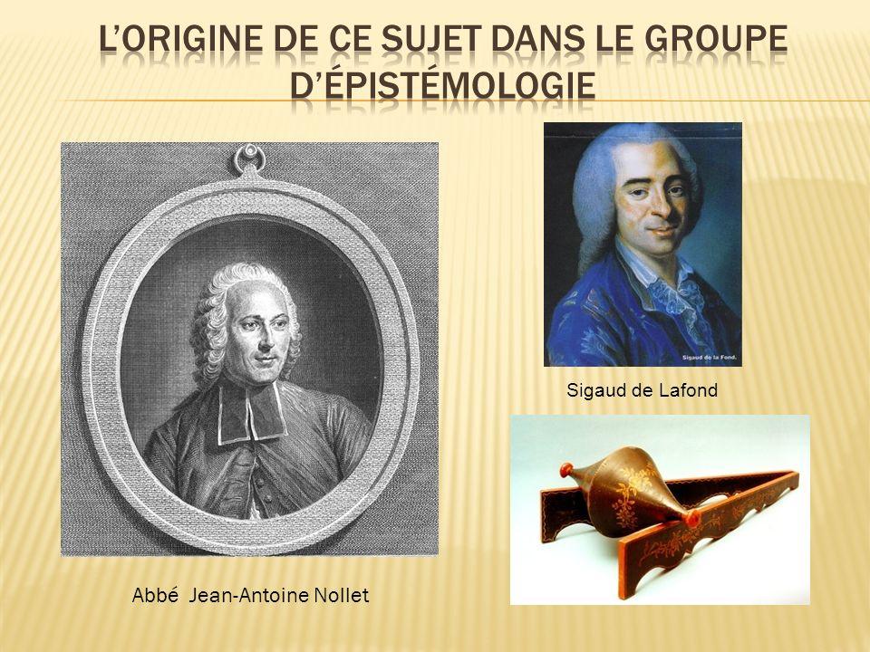 Abbé Jean-Antoine Nollet Sigaud de Lafond