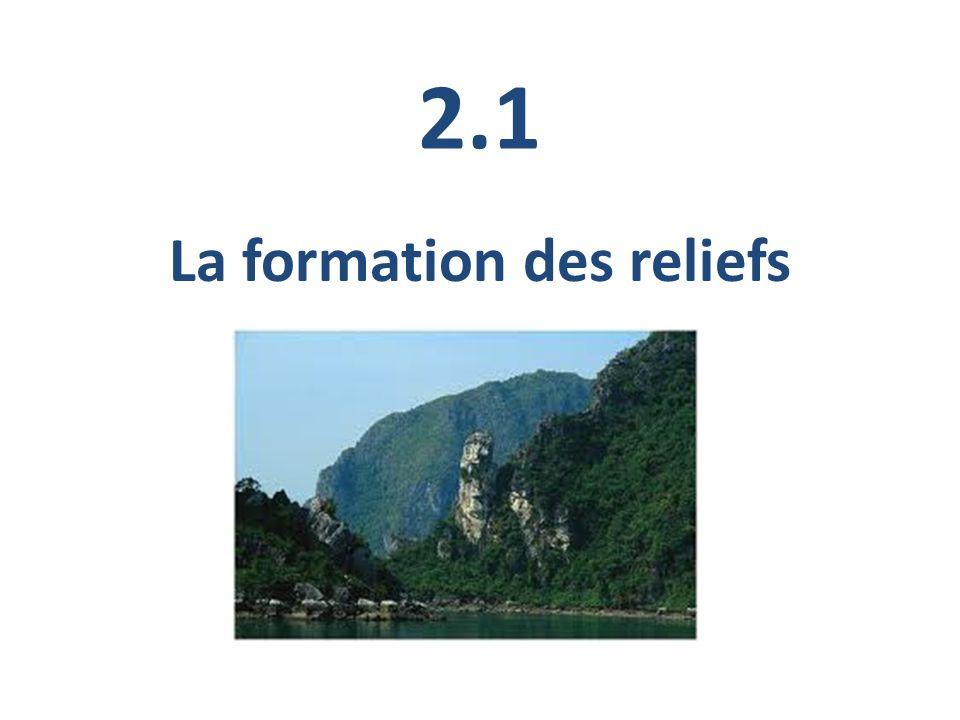 2.1 La formation des reliefs
