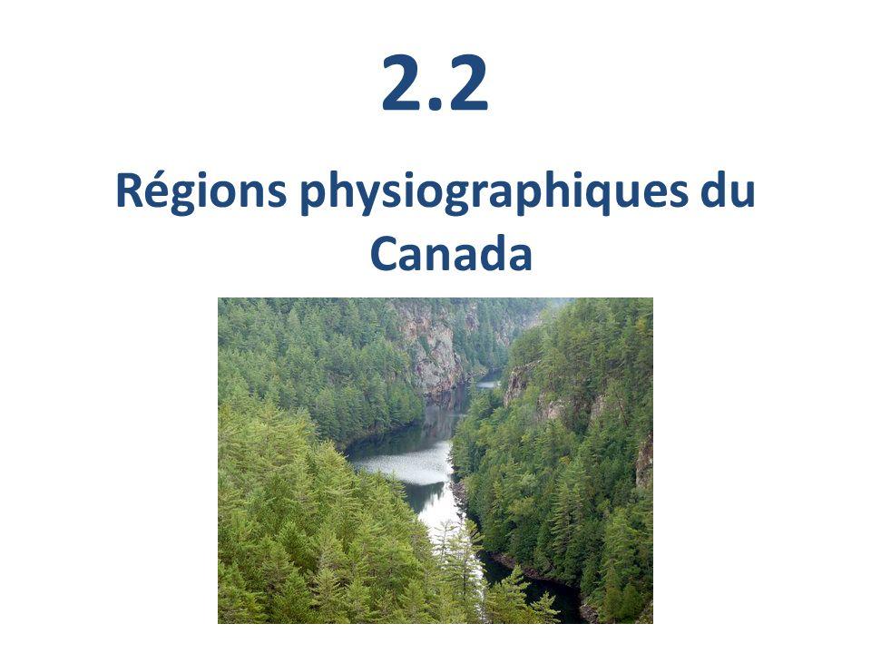 Le Canada est si vaste que les géographes lont divisé en huit régions.