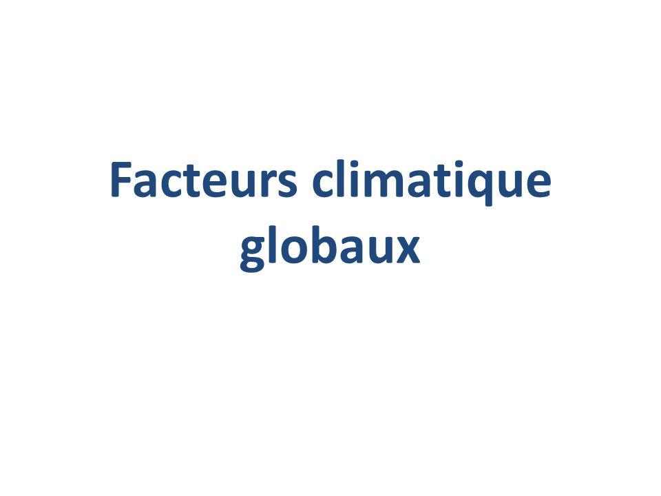 Facteurs climatique globaux