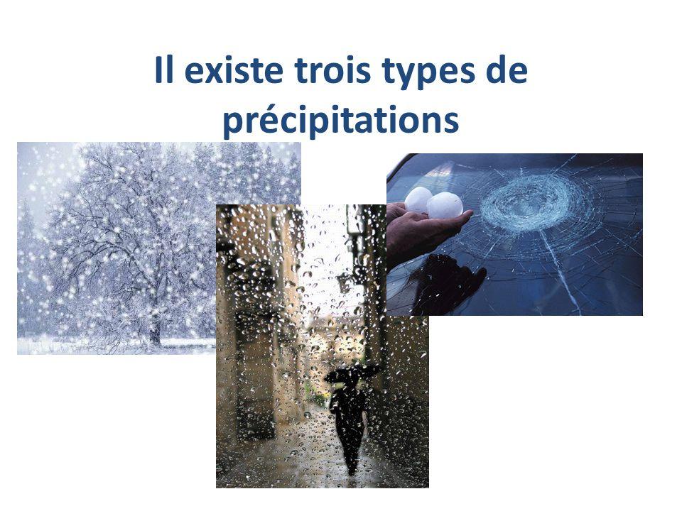 Il existe trois types de précipitations