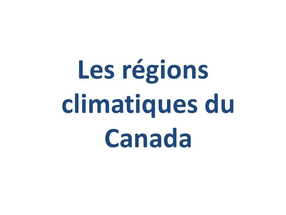 Une région climatique est une région qui connaît, à lintérieur de ses frontières, les mêmes conditions météorologiques tout au long de lannée.