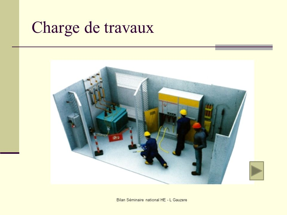 Charge de travaux Bilan Séminaire national HE - L Gauzere