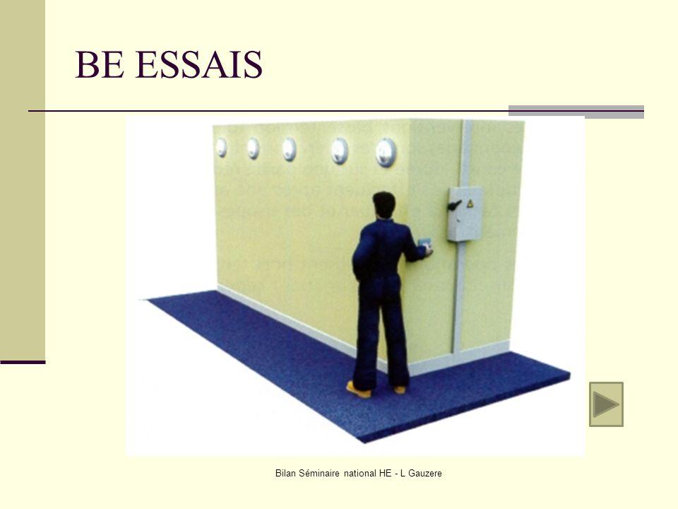 BE ESSAIS Bilan Séminaire national HE - L Gauzere