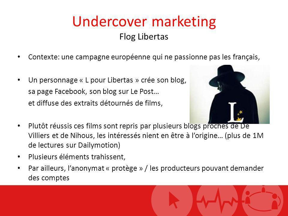 Undercover marketing Flog Libertas Contexte: une campagne européenne qui ne passionne pas les français, Un personnage « L pour Libertas » crée son blo