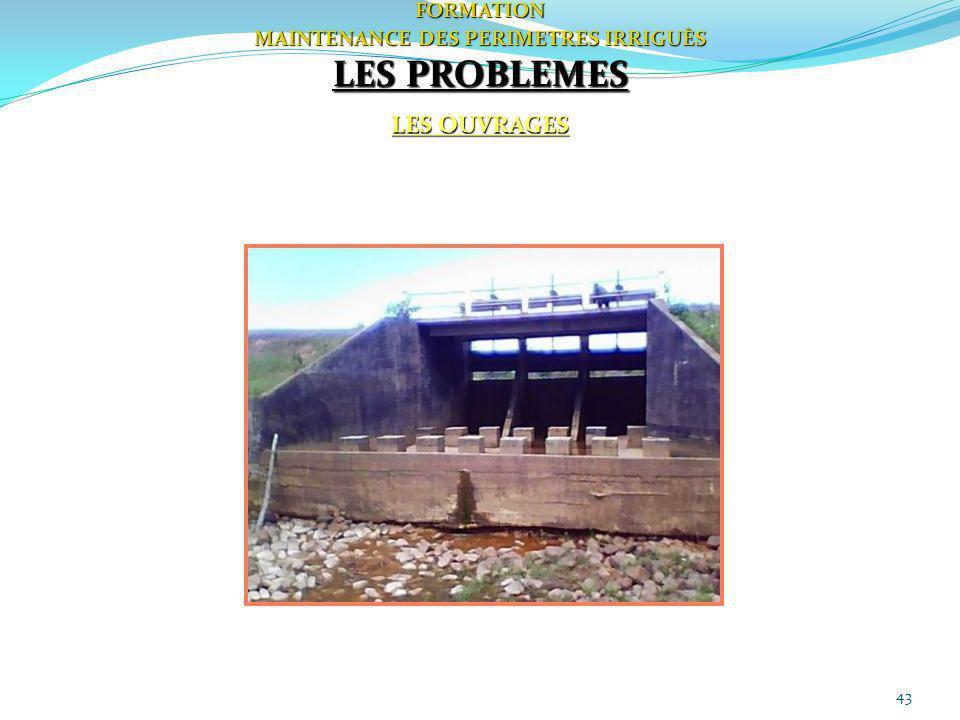 43FORMATION MAINTENANCE DES PERIMETRES IRRIGUÈS LES PROBLEMES LES OUVRAGES