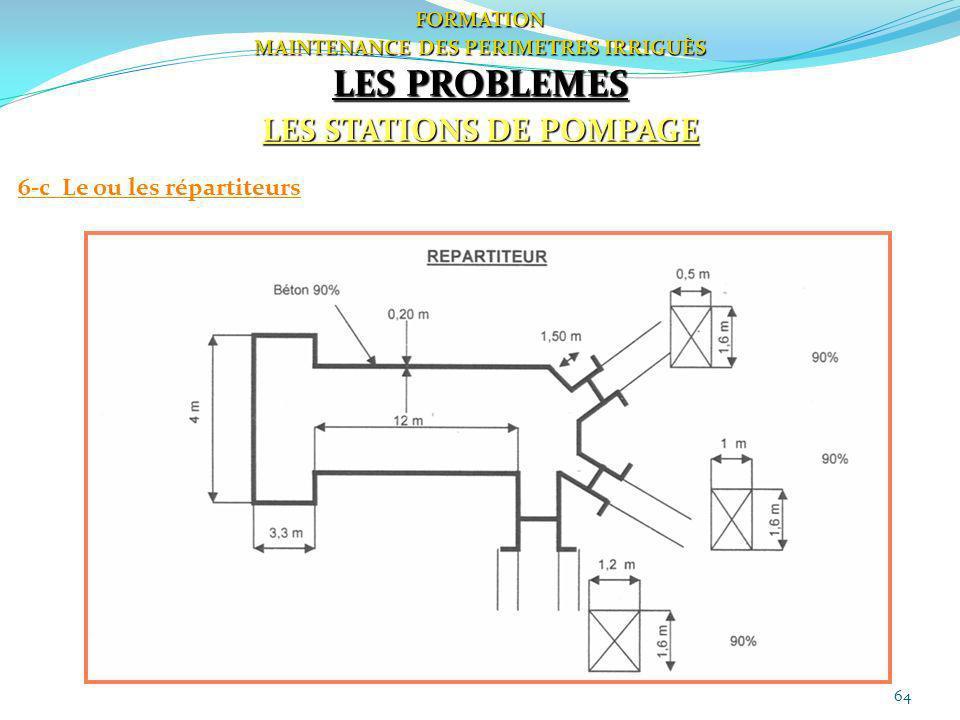64 FORMATION MAINTENANCE DES PERIMETRES IRRIGUÈS LES PROBLEMES LES STATIONS DE POMPAGE 6-c Le ou les répartiteurs