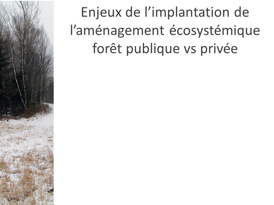 Enjeux de limplantation de laménagement écosystémique forêt publique vs privée