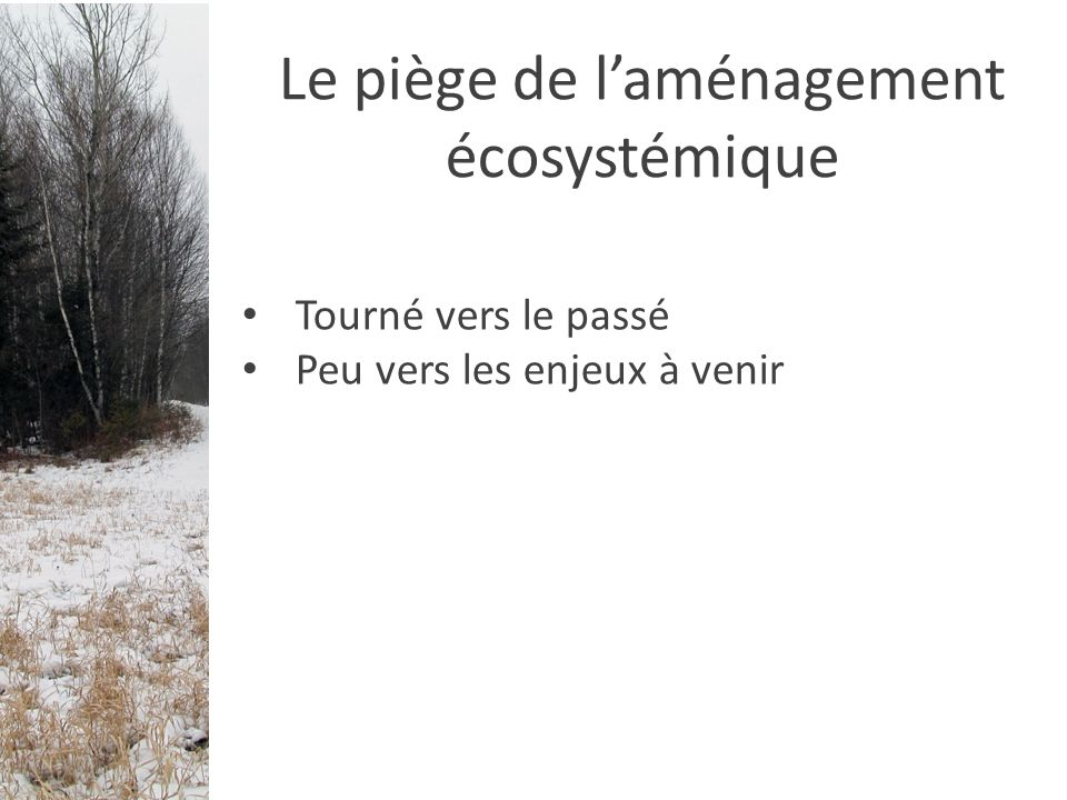 Connectivité du paysage Est-ce que les espèces végétales peuvent se disperser dans le paysage.