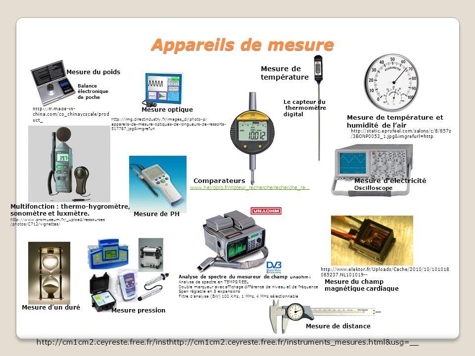 Appareils de mesure www.hellopro.fr/moteur_recherche/recherche_re... ComparateursMesure délectricité Oscilloscope Analyse de spectre du mesureur de ch