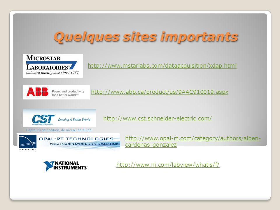 http://www.mstarlabs.com/dataacquisition/xdap.html http://www.abb.ca/product/us/9AAC910019.aspx Capteurs de position, de niveau de fluide http://www.c