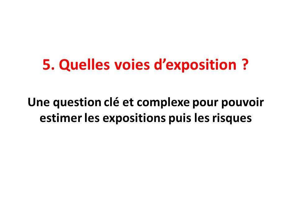 5. Quelles voies dexposition ? Une question clé et complexe pour pouvoir estimer les expositions puis les risques