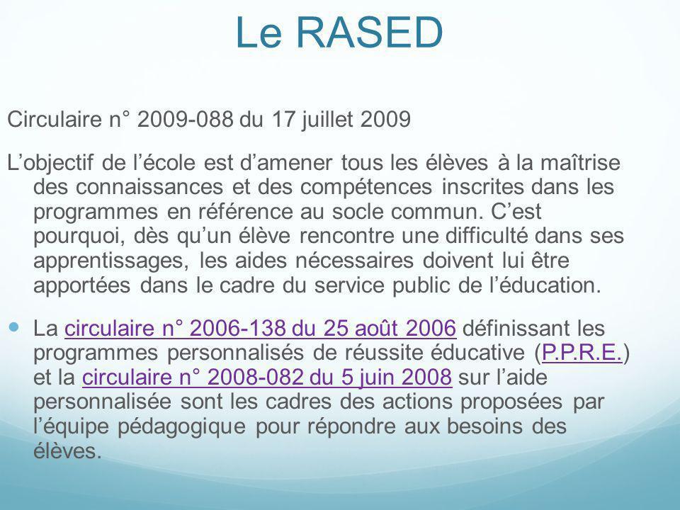 Circulaire n° 2009-088 du 17 juillet 2009 Lobjectif de lécole est damener tous les élèves à la maîtrise des connaissances et des compétences inscrites