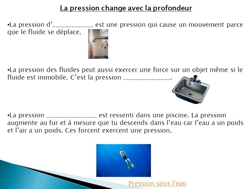 SOUS PRESSION!!!! Les gaz sous pression sont toujours prêts à se dispersés car leurs particules ont toujours beaucoup dénergie! Si les particules de g