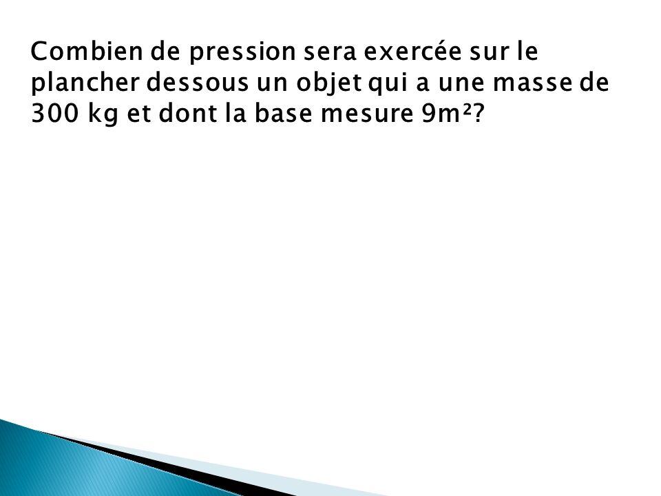 Alors…. Pression (Pa)= Force (N)/Aire (m²) Le terme «pascal» est en lhonneur du scientifique français nommé Blaise Pascal. * Un kilopascal= _________