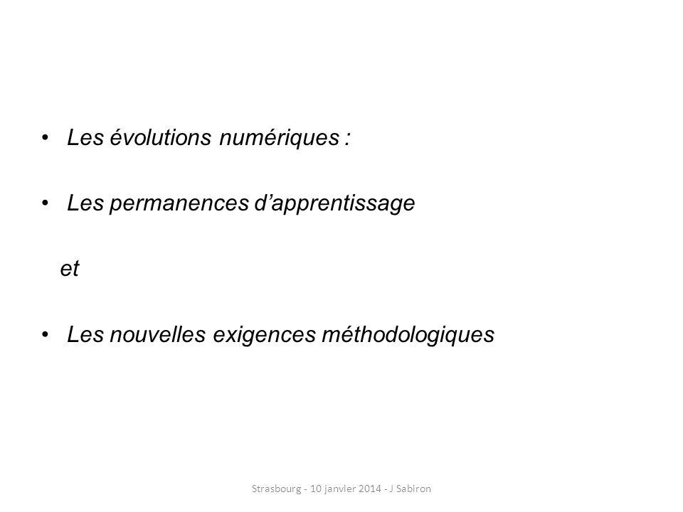 Didactique 1 : apprendre à apprendre Strasbourg - 10 janvier 2014 - J Sabiron