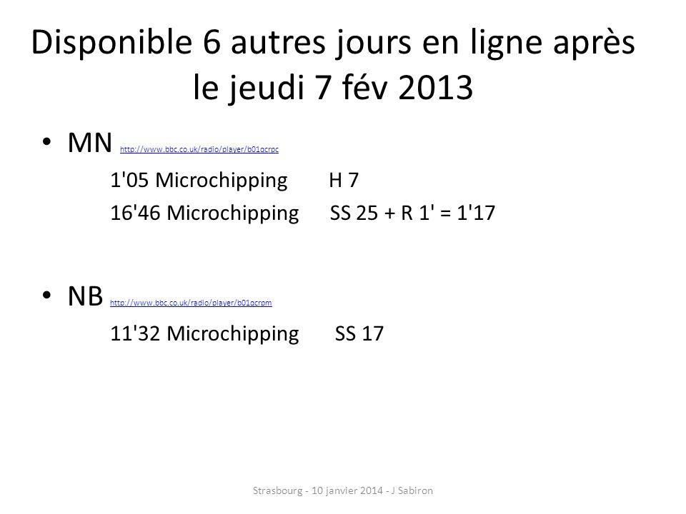 Fléchage « PINPOINT » H-7 -> 1 05 SS 1-17-> 11 32 SS2-25 + R-1 -> 16 46 Strasbourg - 10 janvier 2014 - J Sabiron