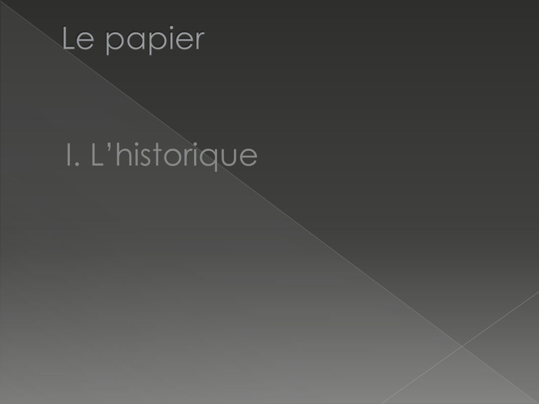 I. Lhistorique
