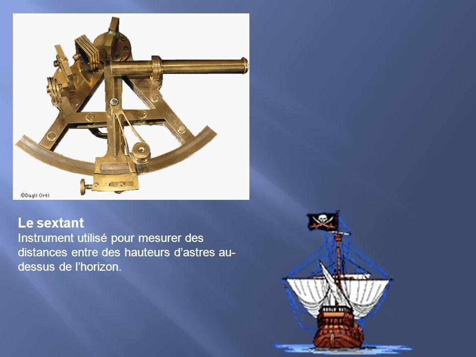 Le sextant Instrument utilisé pour mesurer des distances entre des hauteurs dastres au- dessus de lhorizon.