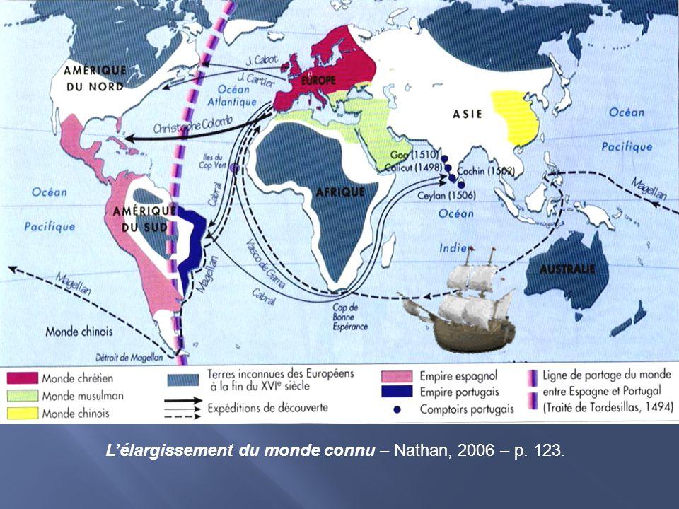 Lélargissement du monde connu – Nathan, 2006 – p. 123.