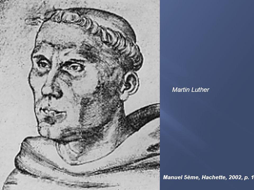 Martin Luther Manuel 5ème, Hachette, 2002, p. 142