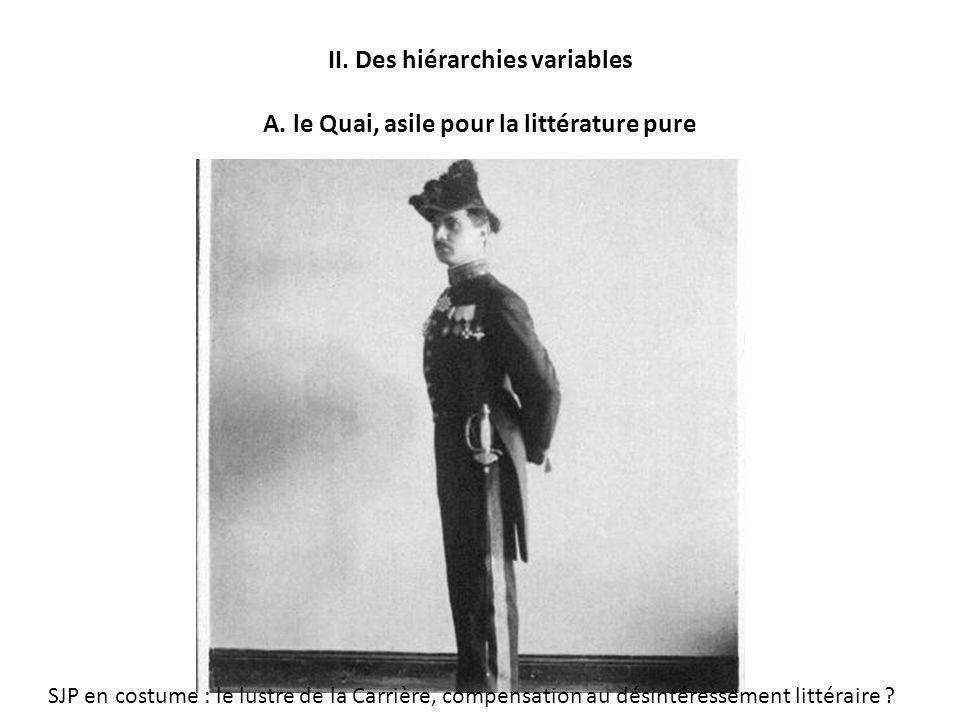 II. Des hiérarchies variables A. le Quai, asile pour la littérature pure SJP en costume : le lustre de la Carrière, compensation au désintéressement l
