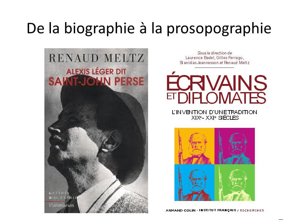 De la biographie à la prosopographie