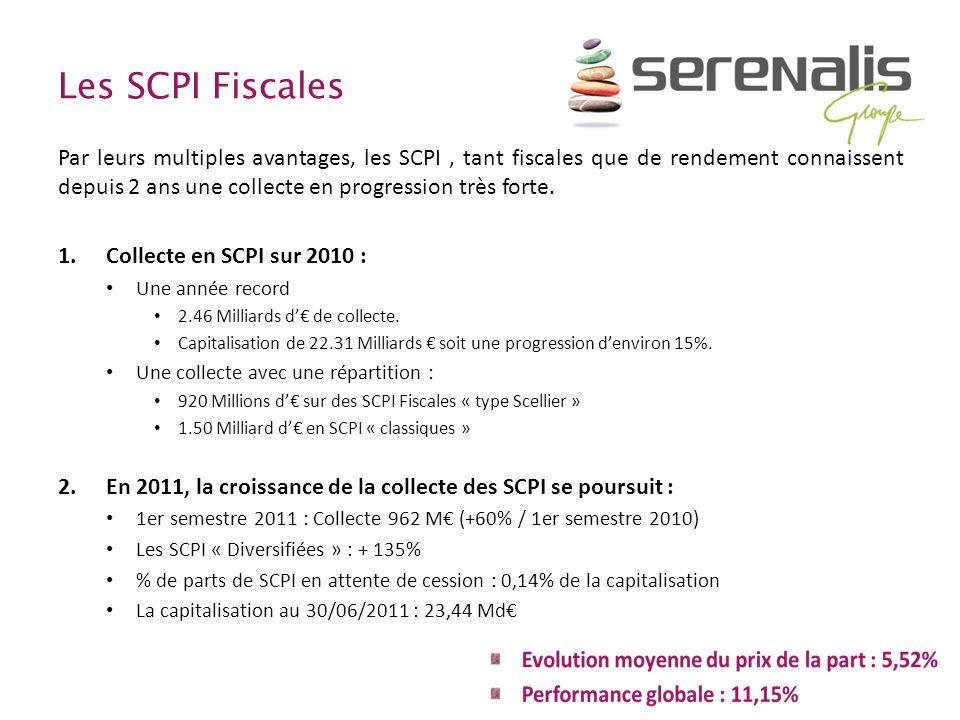 Les SCPI Fiscales Par leurs multiples avantages, les SCPI, tant fiscales que de rendement connaissent depuis 2 ans une collecte en progression très fo
