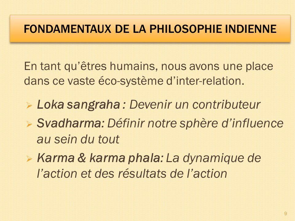 Loka Sangraha & Svadharma Loka Sangraha – Puisque nous dépendons de tant de personnes et de forces pour notre existence, nous pouvons apprendre à être des contributeurs/des donneurs et pas seulement des bénéficiaires, des consommateurs/des preneurs.