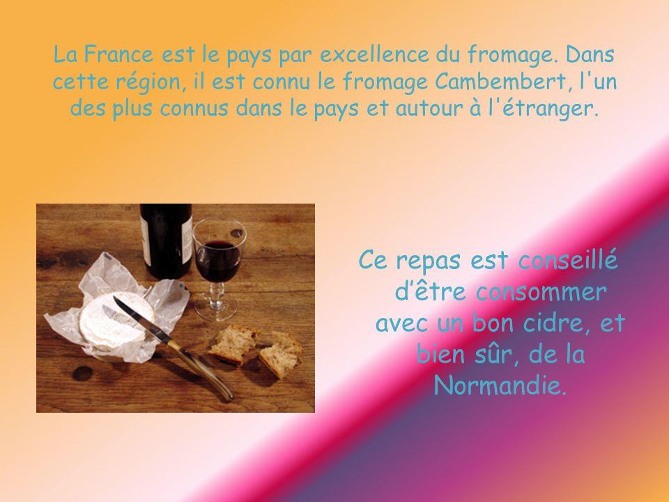 La France est le pays par excellence du fromage. Dans cette région, il est connu le fromage Cambembert, l'un des plus connus dans le pays et autour à