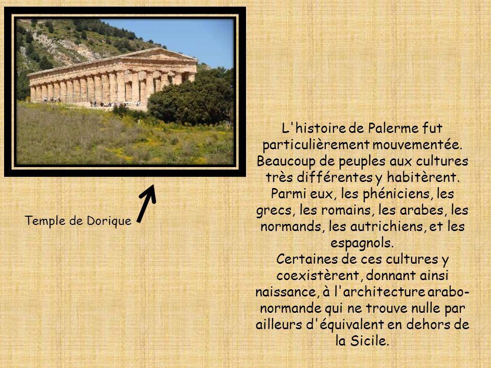 L'histoire de Palerme fut particulièrement mouvementée. Beaucoup de peuples aux cultures très différentes y habitèrent. Parmi eux, les phéniciens, les
