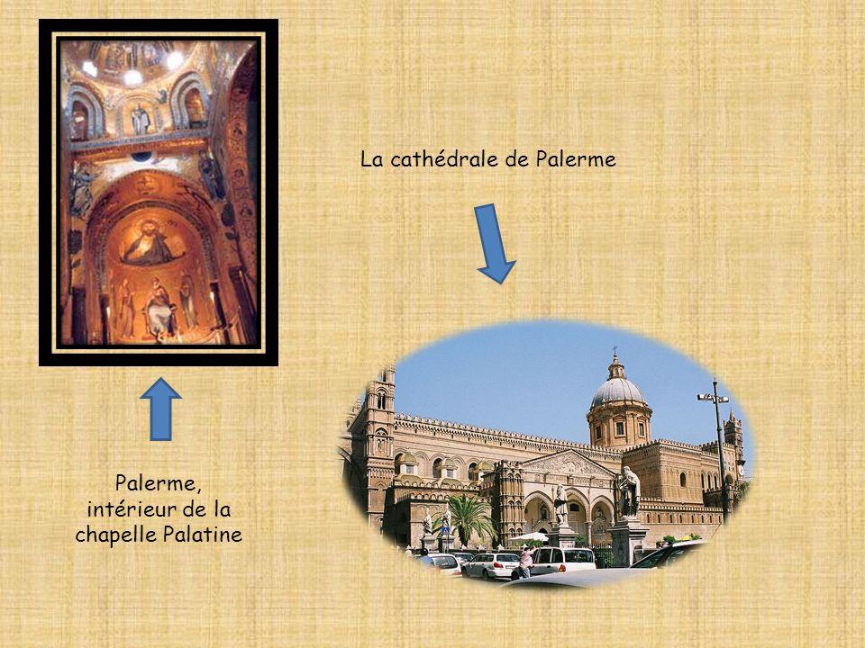 Palerme, intérieur de la chapelle Palatine La cathédrale de Palerme