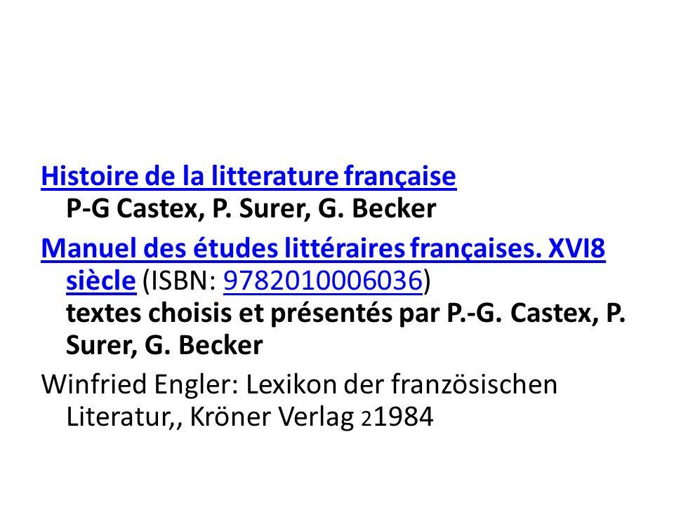 Histoire de la litterature française Histoire de la litterature française P-G Castex, P.