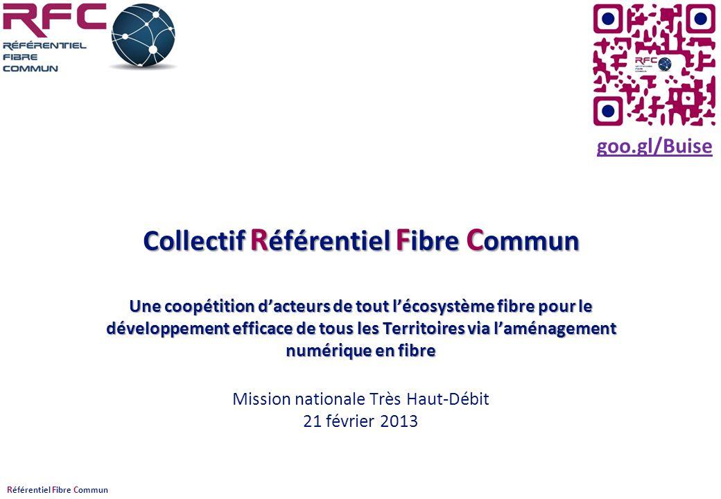 R éférentiel F ibre C ommun Collectif R éférentiel F ibre C ommun Une coopétition dacteurs de tout lécosystème fibre pour le développement efficace de