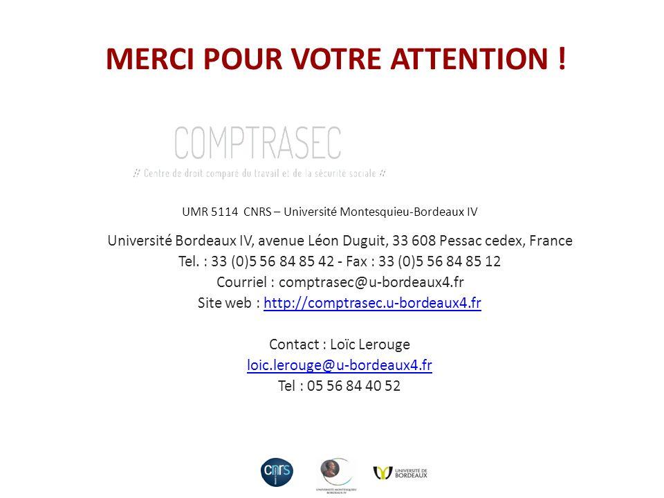 Université Bordeaux IV, avenue Léon Duguit, 33 608 Pessac cedex, France Tel. : 33 (0)5 56 84 85 42 - Fax : 33 (0)5 56 84 85 12 Courriel : comptrasec@u