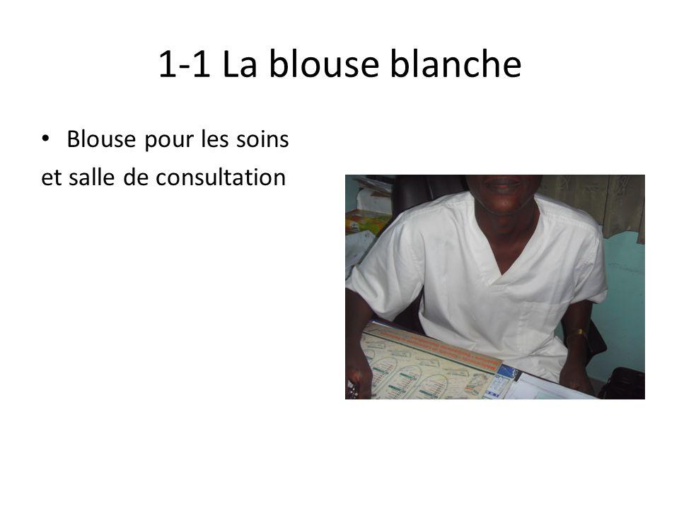 1-1 La blouse blanche Blouse pour les soins et salle de consultation