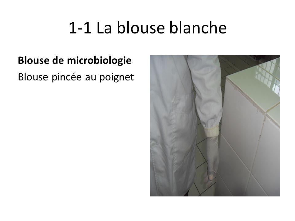 1-1 La blouse blanche Blouse de microbiologie Blouse pincée au poignet