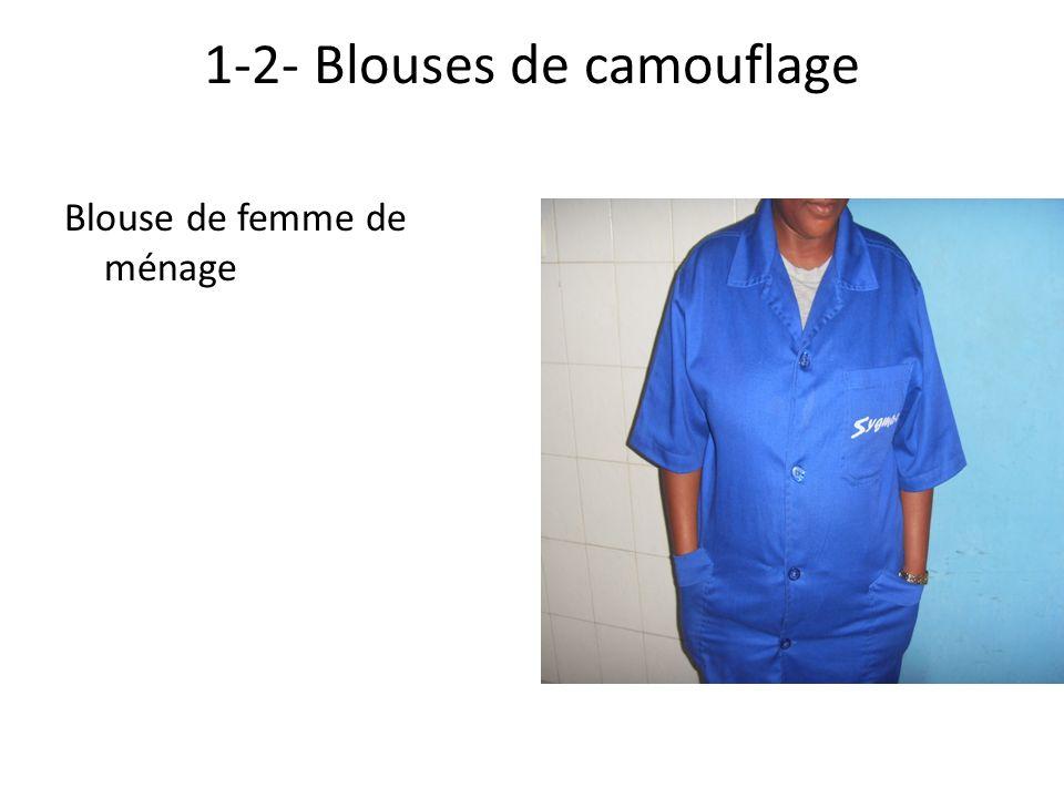 1-2- Blouses de camouflage Blouse de femme de ménage