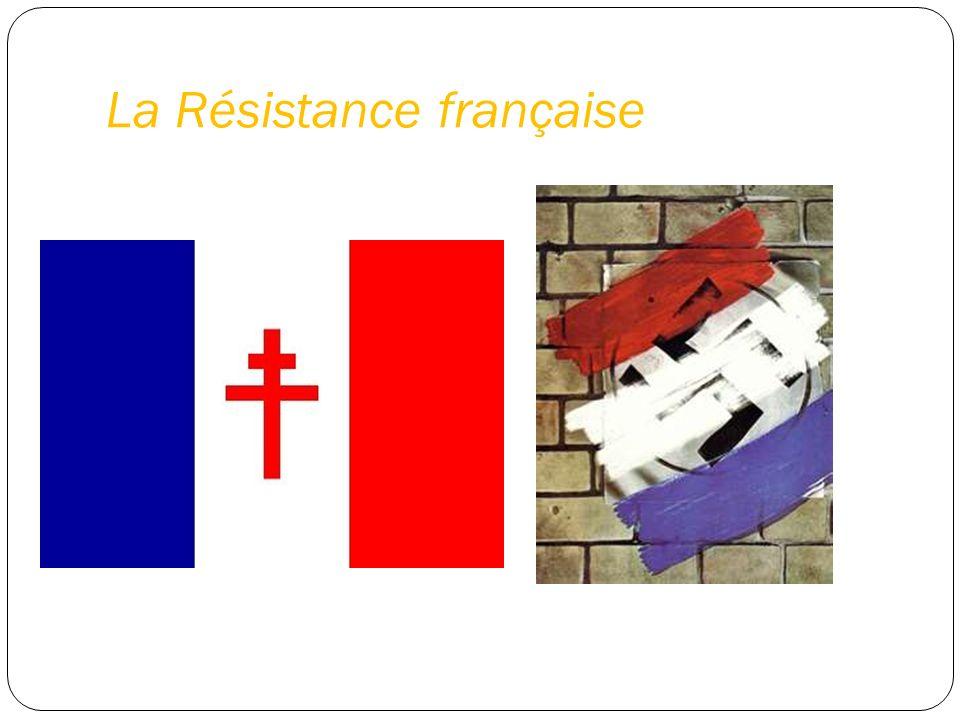 Cellules de résistance étaient d petits groupes d hommes et de femmes armés La Résistance venus de tous les niveaux économiques et tendances politiques de la société française 220 000 hommes et les femmes ils étaient éditeurs de journaux clandestins