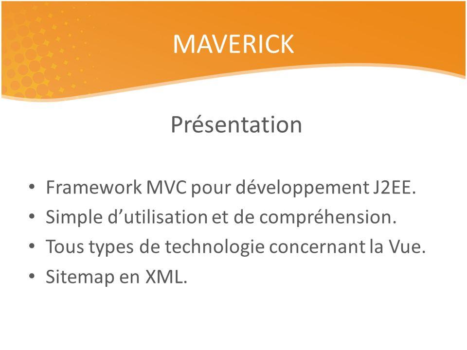 Présentation Framework MVC pour développement J2EE.