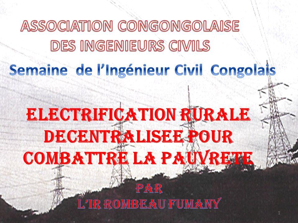 ELECTRIFICATION RURALE DECENTRALISEE POUR COMBATTRE LA PAUVRETE 1