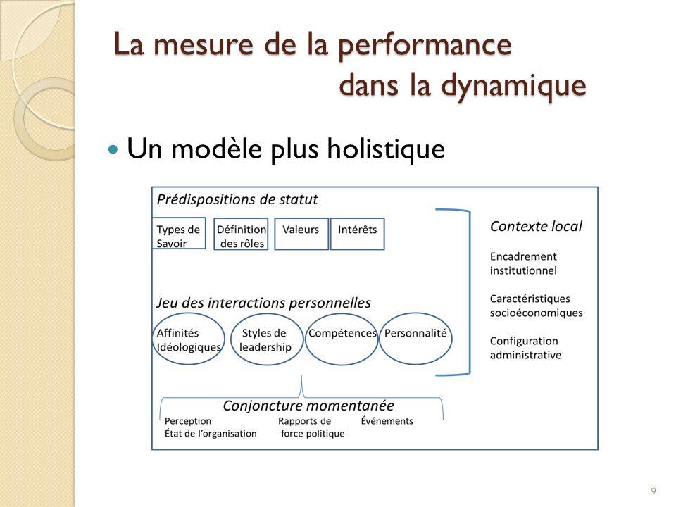 Un modèle plus holistique 9